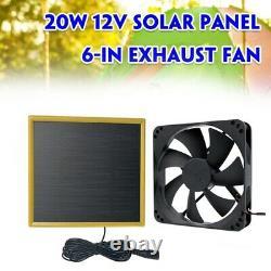 10X12V 20W Solar Exhaust Fan Air Extractor 6 Inch Mini Ventilator Solar Panel