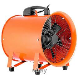 10 250mm Portable Extractor Ventilation Blower Fan and 5m PVC Flexible Ducting