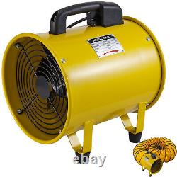 10 250mm Portable Ventilation Fan with 5m PVC Ducting Extractor Fan