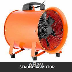 10 Industrial Ventilator Fan Blower 5m Duct Hose Extractor Workshop Heavy Duty