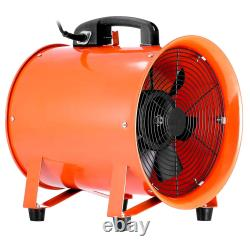 12 300MM Cyclone Dust Fume Extractor Ventilation Fan + 16FT 5M Pvc Ducting