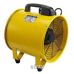 12 300mm Portable Ventilation Extractor Fan with 10m PVC Ducting 2500-3900M³/H