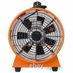 12 300mm Ventilation Blower Fan Dust Fume Extractor Fan with 10m PVC Ducting