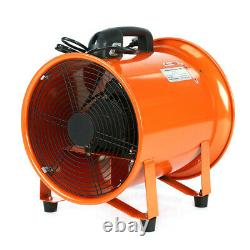 12'' Cyclone Dust Fume Extractor Ventilation Fan 300MM + 5M PVC Flexible Ducting