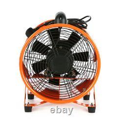 12'' Cyclone Dust Fume Extractor Ventilation Fan + 5M PVC Flexible Ducting Set