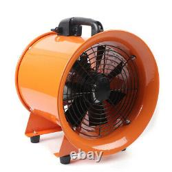 12 Inch Industrial Extractor Fan Blower Portable 5m PVC Duct Ventilator 370pa
