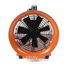 12 Inch Industrial Extractor Portable Ventilator Air Blower Fan With 5m PVC Duct
