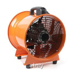 12 Industrial Extractor Portable Ventilator Air Blower Fan With 5m Duct EU PLUG