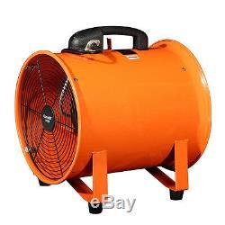12'' Industrial Portable Extractor Fan Ventilator Blower Garage Low Noise