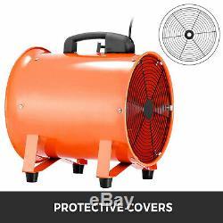 12'' Industrial Ventilator Extractor Fan Blower 5m Duct Hose Rubber Feet Fume uk