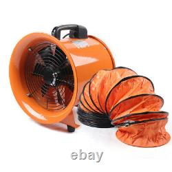 12'' Portable Axial Blower Fan Extractor Fan Ventilator Ductor with5m PVC Duct