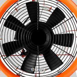 12 Portable Ventilation Fan Axial Blower Workshop Extractor Duct Fan with 5m Duct