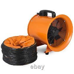 12 Ventilation Blower Fan + 10m PVC Ducting 2800rpm Industrial Extractor Fan