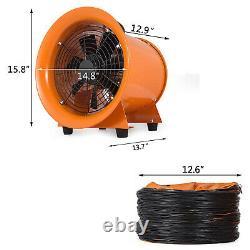 12 Ventilation Blower Fan + 10m PVC Ducting Portable Dust Fume Extractor Fan