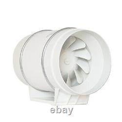 150MM Inline Round 6 Ventilation Extractor Fan Duct Pipe Tube Plastic