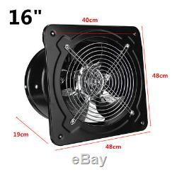 16 Inch Metal Commercial Axial Industrial Ventilation Extractor Plate Fan