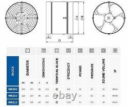 200-315mm Inline Ventilation Duct Fan Ducting Industrial Extractor Ventilator