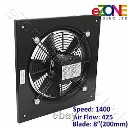 200mm Industrial Ventilation Metal Fan Axial Commercial Air Extractor Quiet