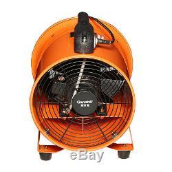 220V 8-12'' Industrial Portable Extractor Fan Ventilator Blower Garage Low Noise