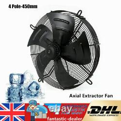 250W Commercial Extractor Industrial Ventilation Axial Exhaust Fan 450mm