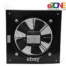 250mm Industrial Ventilation Metal Fan Axial Commercial Air Extractor Exhaust