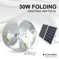 30W Folding Solar Panel +12V 25W Fan Attic Extractor Ventilation Roof Vent Home
