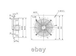 400mm Industrial Axial Plated Extractor Fan Metal Commercial Plated Ventilator