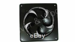 450mm/18in Extractor Industrial Ventilation Fan Plate Mount Axial 1ph 6p Blower