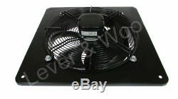 450mm/18in Extractor Industrial Ventilation Fan Plate Mount Axial 1ph 6p Sucker