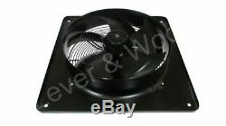 450mm/18in Extractor Industrial Ventilation Fan Plate Mount Axial 3ph 6p Sucker