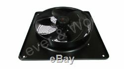 450mm/18in Extractor Ventilation Fan Plate Mount Axial 1ph 4p Blower Inc UK PLUG