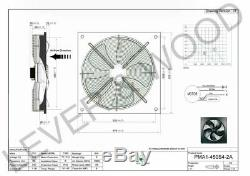 450mm/18in Extractor Ventilation Fan Plate Mount Axial 1ph 4p Sucker Inc UK PLUG