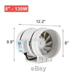 4/6/8 Inline Duct Fan Hydroponic Ventilation Extractor Vent Exhaust Air Blower