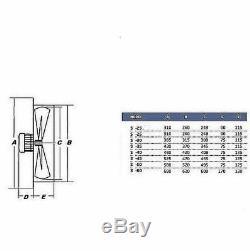 500mm Industrial Commercial Extractor Ventilation Axial Ventilator wall Fan