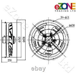550mm Round Cased Axial Fan+Speed Controller Building Air Ventilation Extractor