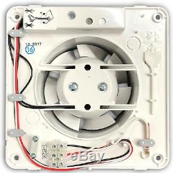 5 x National Ventilation M100-T'Monsoon' Axial Extractor Fans 100mm 4 Timer