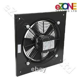 600mm Square Frame Axial Fan+Speed Controller Building Air Ventilation Extractor