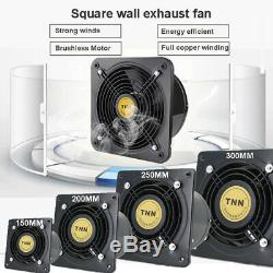 6-12'' Ventilation Extractor Exhaust Fan Air Blower Wall-mount Kitchen Bathroom