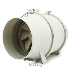 6 Extractor Ventilation Duct Pipe Tube Inline Fan Plastic w Temperature Display