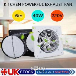 6 Inch Silent Wall Extractor Exhaust Ventilation Fan Bathroom Kitchen Toilet UK