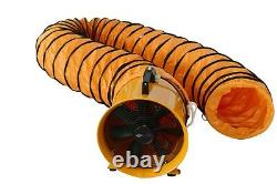 8 200mm Cyclone Dust Fume Extractor / Ventilation Fan + 5m Pvc Ducting