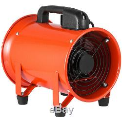 8'' Extractor Fan Blower portable 10m Duct Hose Fume High Velocity Ventilator