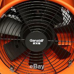 8'' Portable Ventilator Axial Ducting Blower Industrial Workshop Extractor Fan