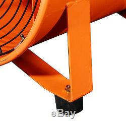8'' Portable Ventilator Axial Ducting Blower Industrial Workshop Extractor Fan
