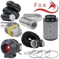 8 Twin Speed Ducting Fan Filter Kit Aluminium Acousitc Combi Insulated Tubing