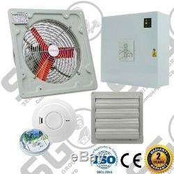AOV Air Vent Smoke Extractor Ventilation Fan High Temp Control Panel Kit