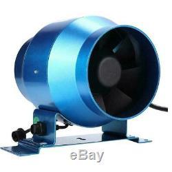 Adjustable Speed Inline Duct Ventilator Kitchen Extractor Exhaust Fan Air Blower