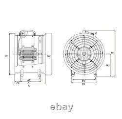 Airtech Portable Ventilator Axial Blower Workshop Extractor Fan 8