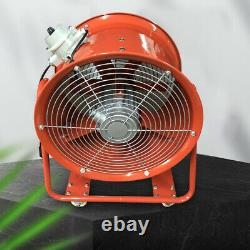 Atex Portable Ventilator Axial Fan Ducting Blower Metal Extractor Industrial 18