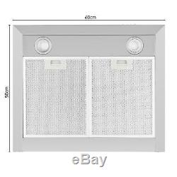 B-Stock Cooker Hoods Extractor Fan Kitchen Chimney 620m³/h 60cm Ventilation T